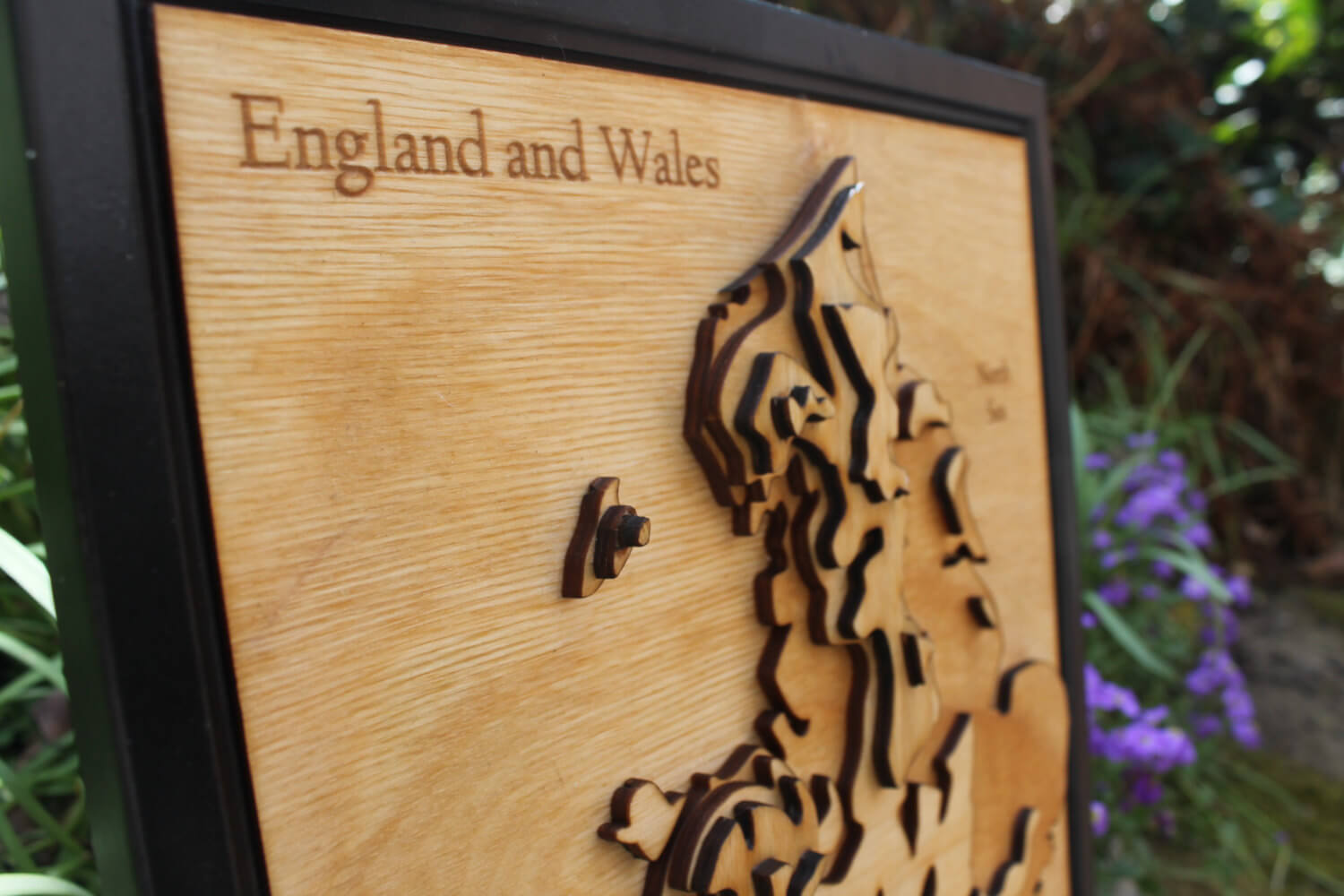 3D England and Wales Map - Wooden Topographical Map - England and Wales Map - Wooden map - Wall hanging