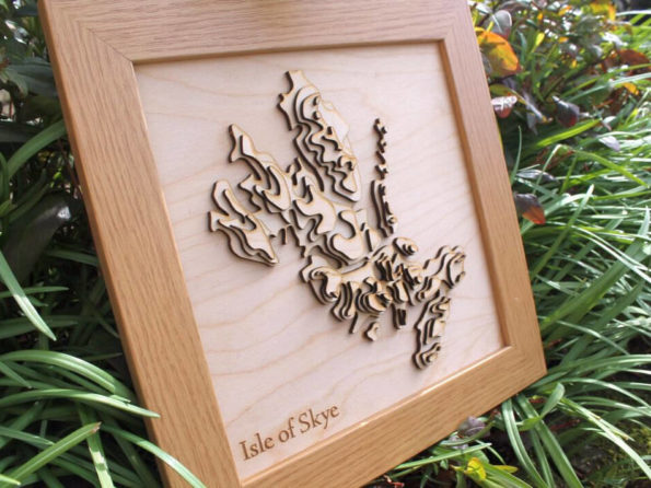 3D Isle of Skye Map - Wooden Topographical Map - Isle of Skye Map - Wooden map - Wall hanging