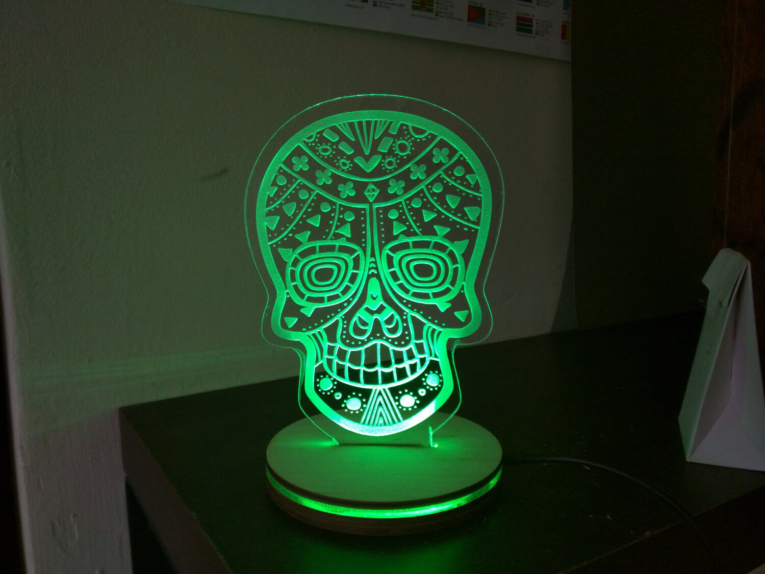 Candy Skull LED Light - Night Light - Desk Light