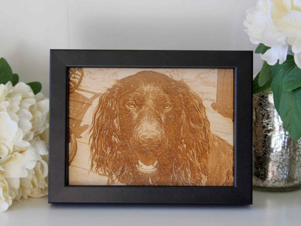 Custom Wood Pet Photo Engraving - Personalised Photo Engraving