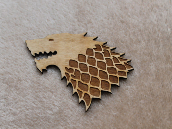 Dire Wolf Brooch or Badge, Game of Thrones, House of Stark