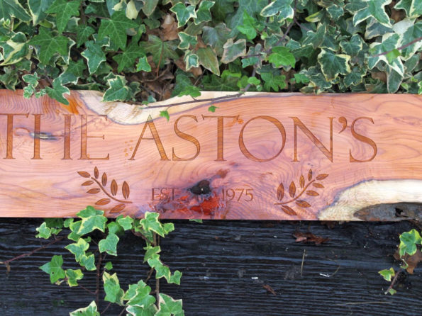 Engraved Wood as Wedding Gift - Fifth Wedding Anniversary