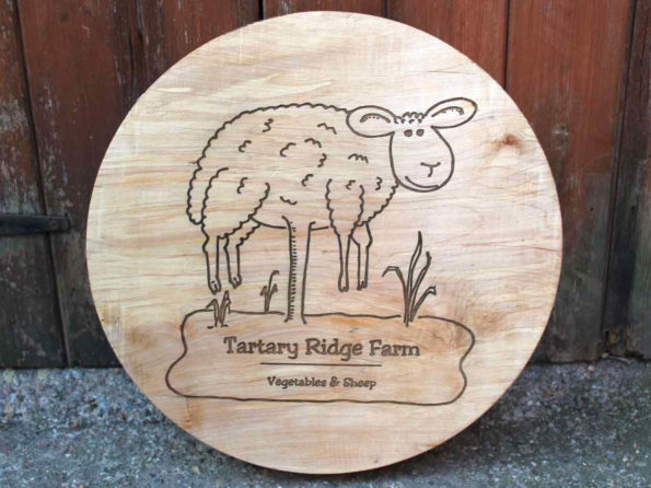 Engraved Wooden Circular Plaque