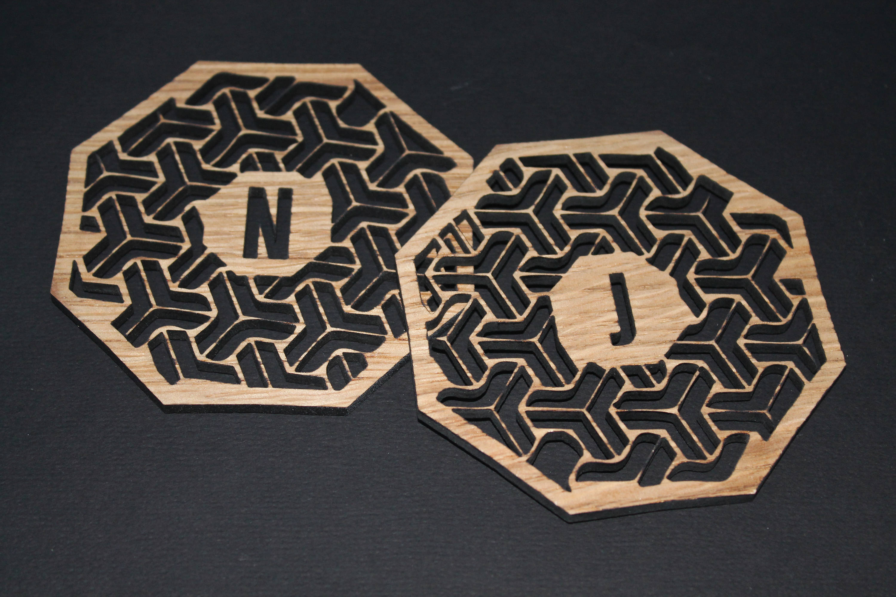 Laser Cut Coasters - Personalised Geometric