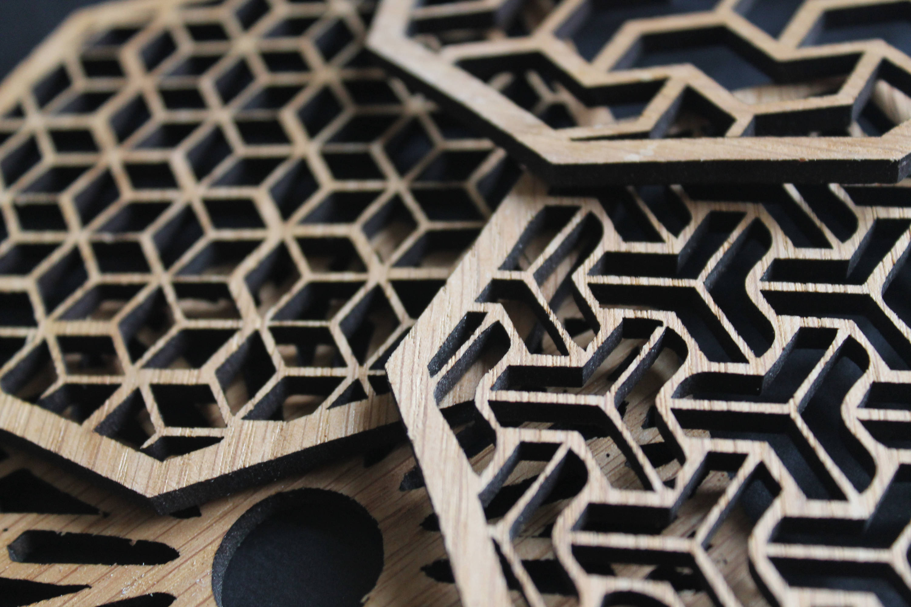 Laser Cut Coasters Set of 4