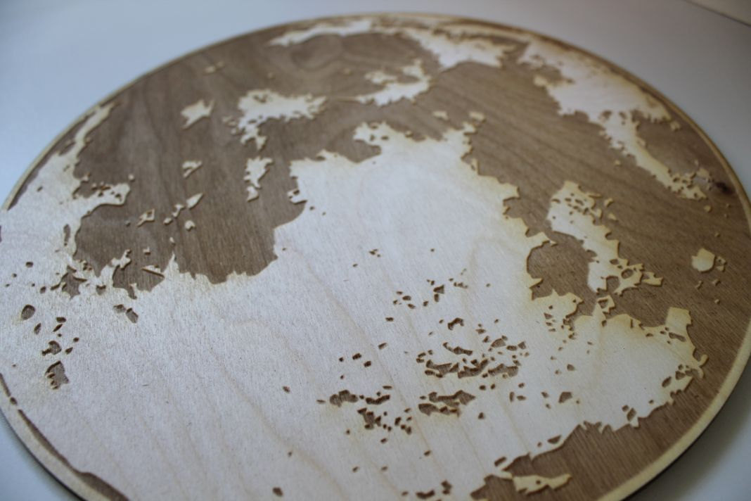 Moon Engraved Wooden Wall Art