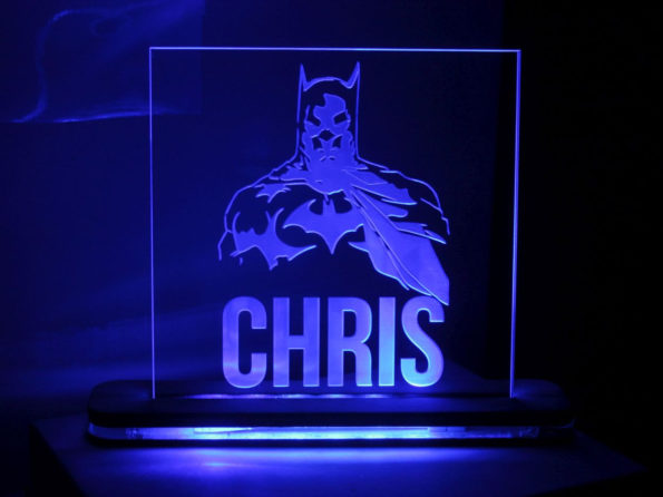 Personalised Batman LED Light - Include Name