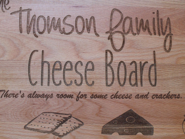The Family Cheese board - Personalised Wooden Chopping cheese board