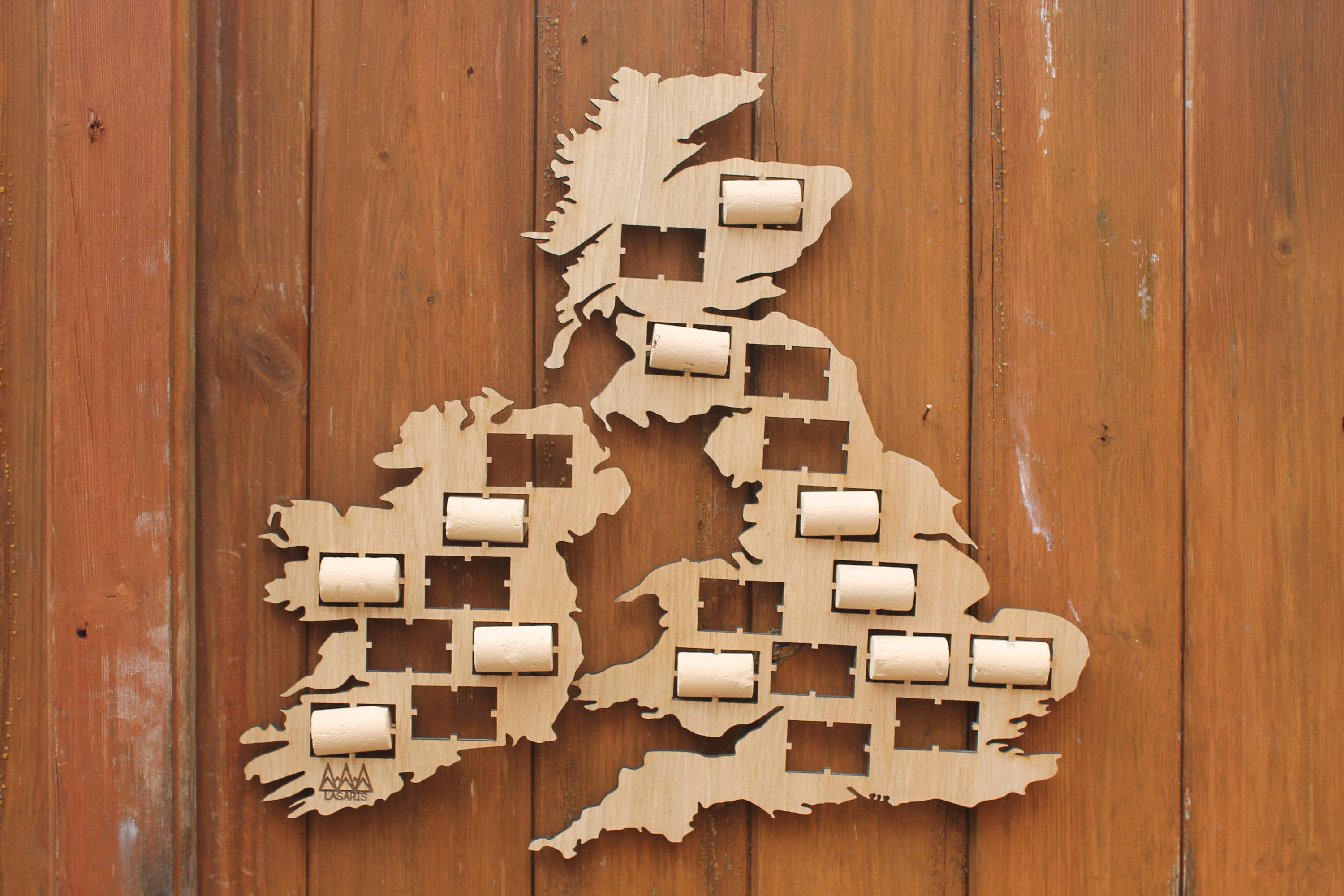 UK Wine Cork Map Prosecco Holder Collection Gift Art