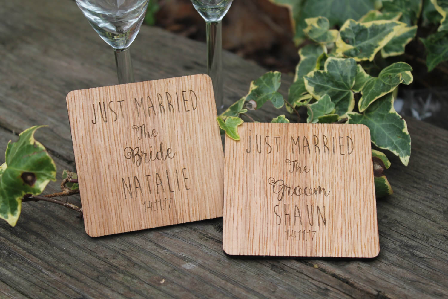 Wedding Coasters - Pesonalised wedding couples gift