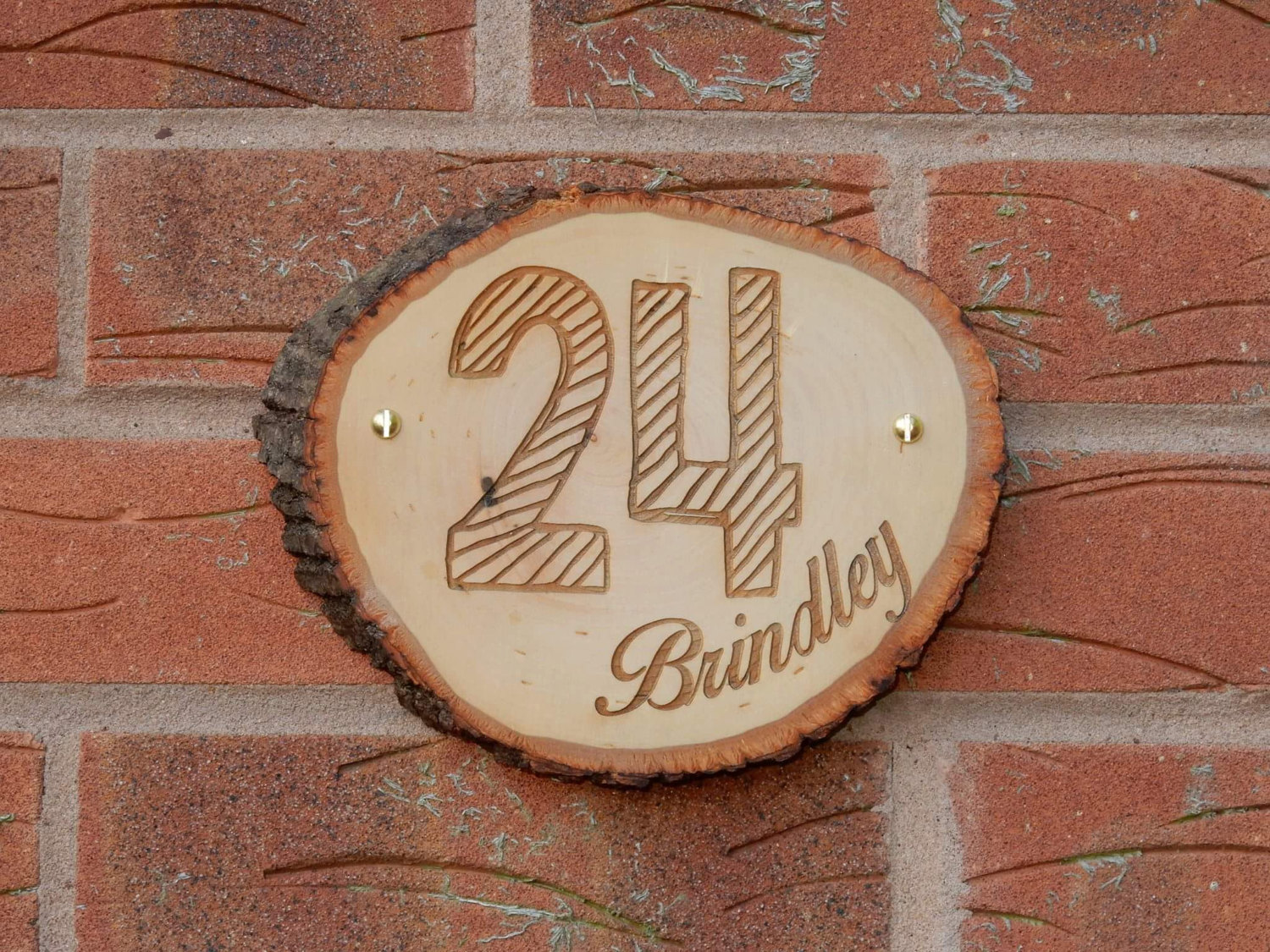 Wood House Number or Name Sign Personalised Custom