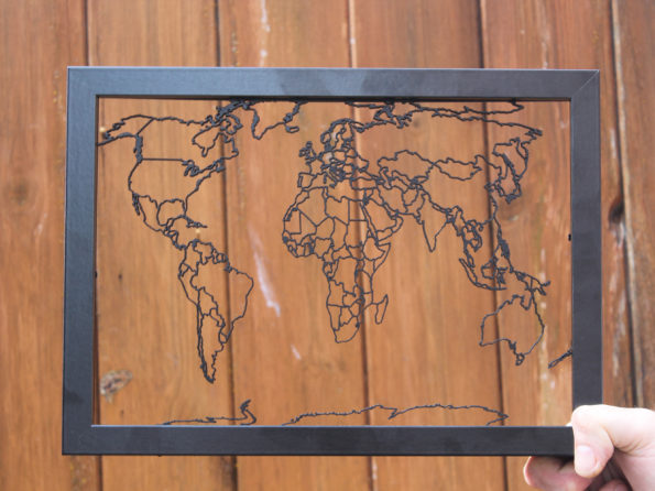 World Map Laser Cut Map