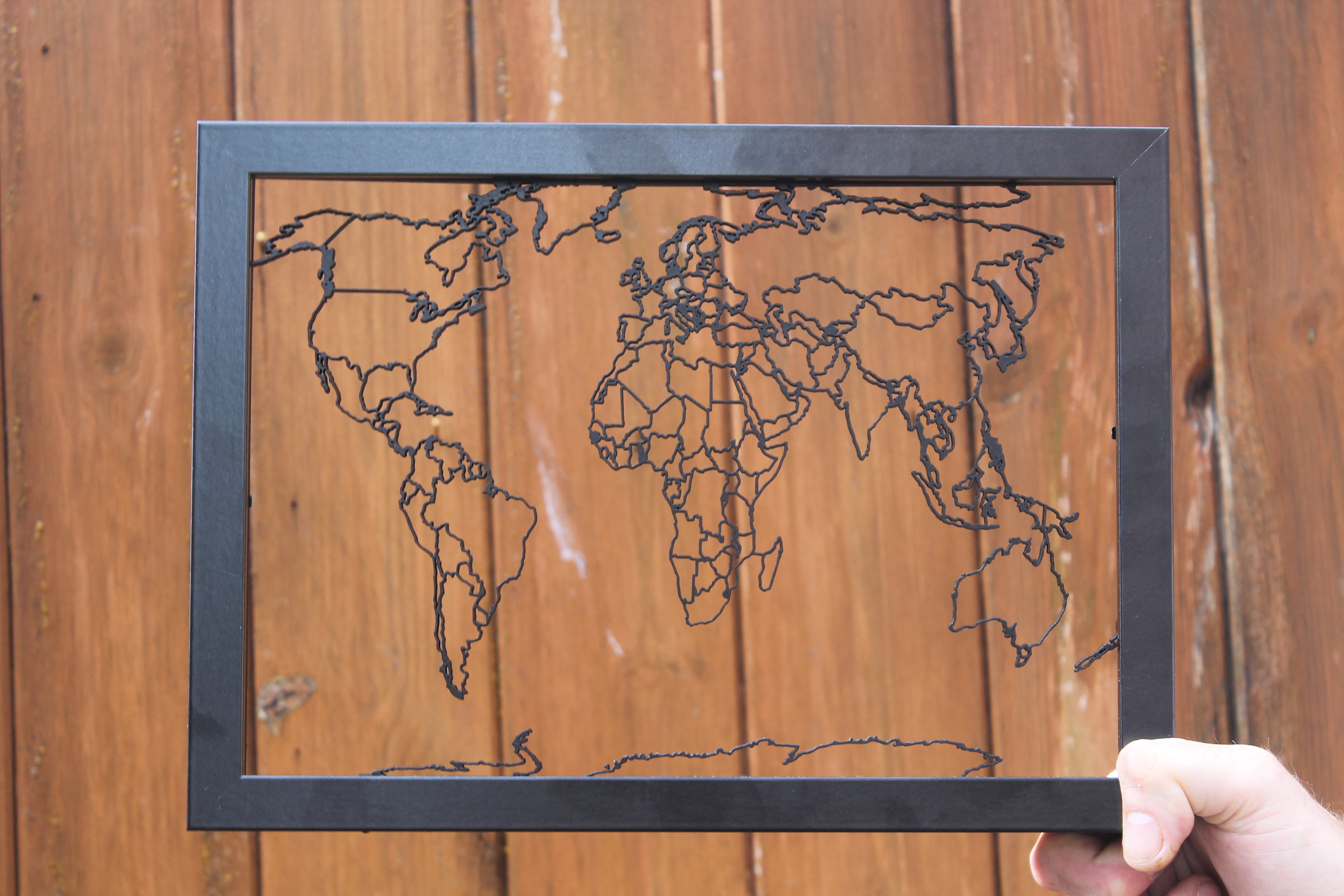 Laser Cut World Map.World Map Laser Cut Map Lasaris
