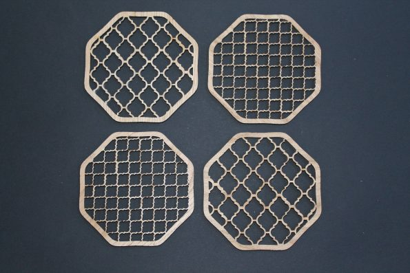 Laser Cut Coasters Set of 4 Moroccan Style