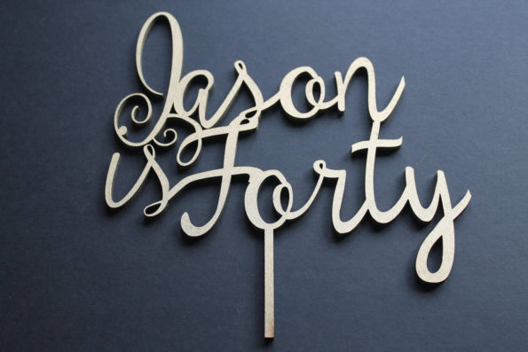 Cake Topper Happy Birthday - Name and Age - Thirty, Forty, Fifty