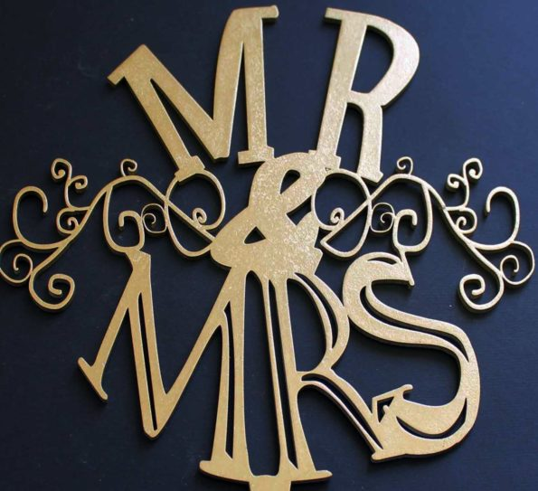 Cake Topper Wedding Mr & Mrs