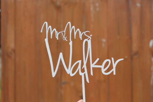 Cake Topper Wedding Surname - Mr and Mrs