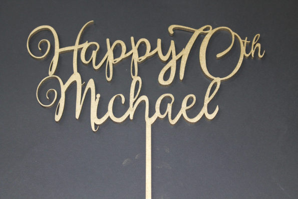 Happy Age and Name Cake Topper Birthday Party 18th, 21st, 30th, 90th Any Age