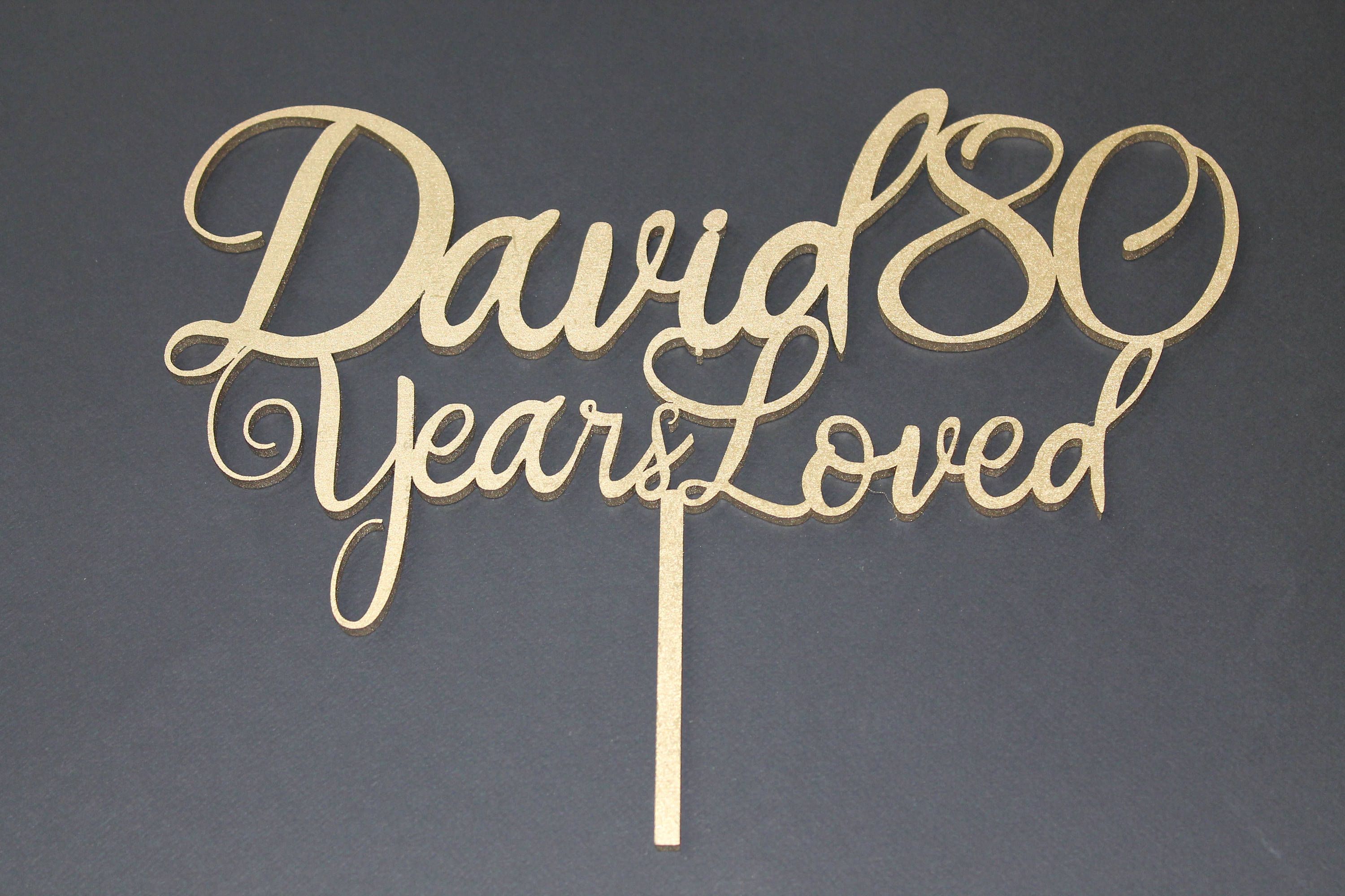 Years Loved Birthday Cake Topper Name Age Party 18th 21st 30th 90th Any