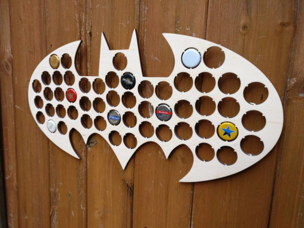 Batman Bottle Cap Holder Bat Cave Collection Gift Art Gift for Him