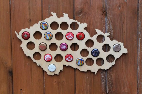 Czech Republic Beer Cap Map Bottle Cap Map Collection Gift Art