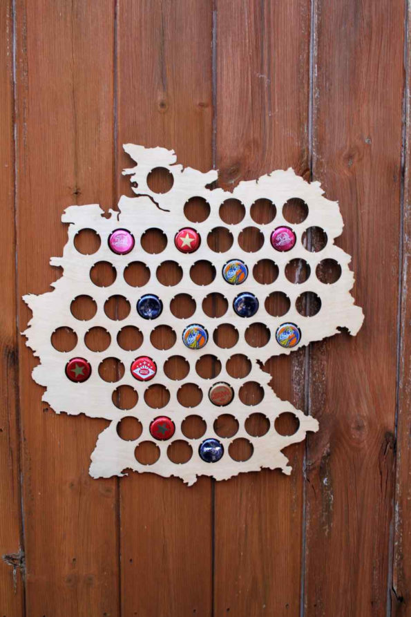 Germany Beer Cap Map Bottle Cap Map Collection Gift Art