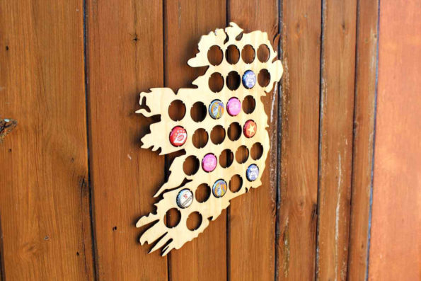 Ireland Beer Cap Map Bottle Cap Map Collection Gift Art