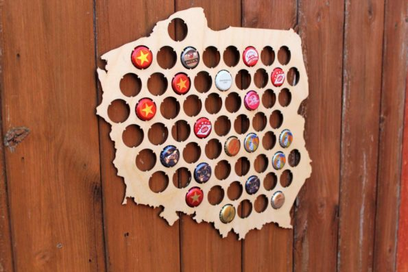 Poland Beer Cap Map Bottle Cap Map Collection