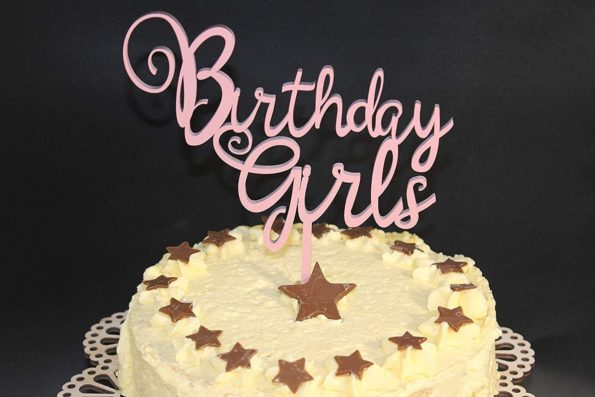 Birthday Girls Cake Topper Wood Custom Personalised Solid Wood Luxury Premium Topper Keepsake