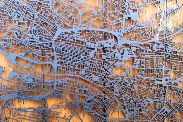 Glasgow Wood Map Laser Cut Street Maps Wooden Map