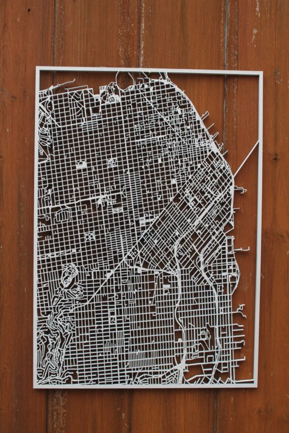 San Francisco Wood Map Laser Cut Street Maps Wooden Map