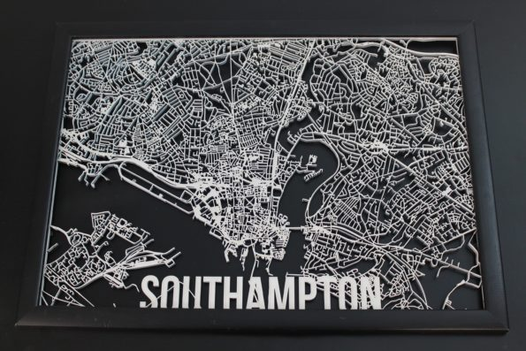 Southampton Wood Map Laser Cut Street Maps Wooden Map