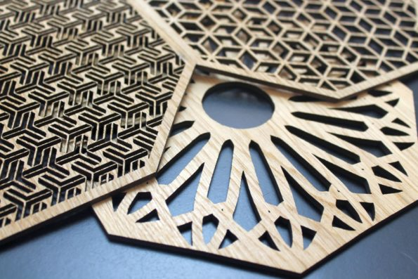 Geometric Delights Placemats Set Laser Cut Set of 4