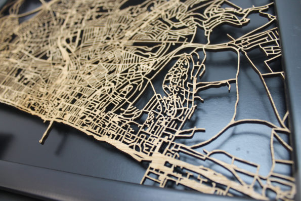 Brighton Wood Map Laser Cut Street Maps Wooden Map