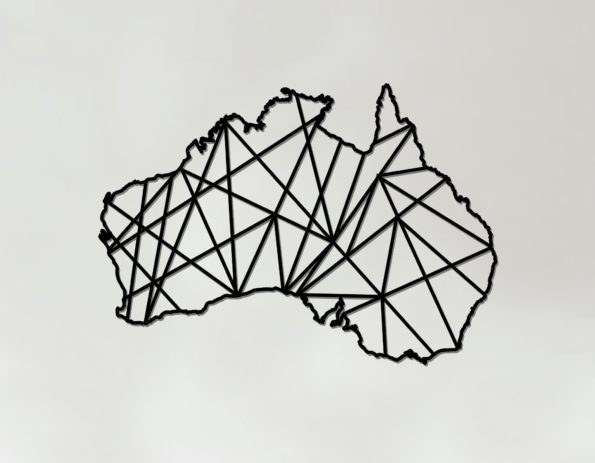 Geometric Australia Art - Wooden Country Wall Art - Australia Gift