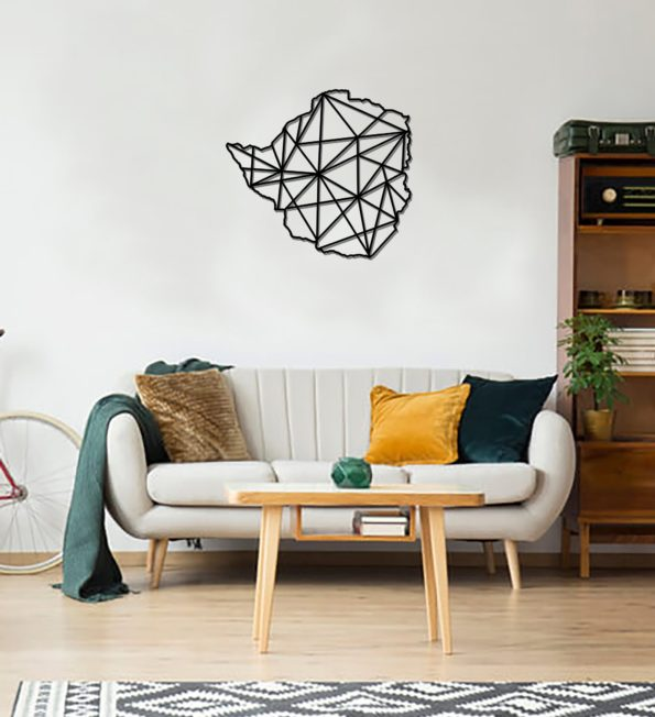 Geometric Iceland Art - Wooden Country Wall Art - Iceland Gift