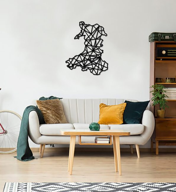 Geometric Wales Art - Wooden Country Wall Art - Wales Gift
