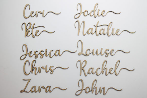 Wood Place Cards Wedding Place Cards Custom Laser Cut Names Place Setting Sign Dinner Party Place Card Wedding Party Decoration