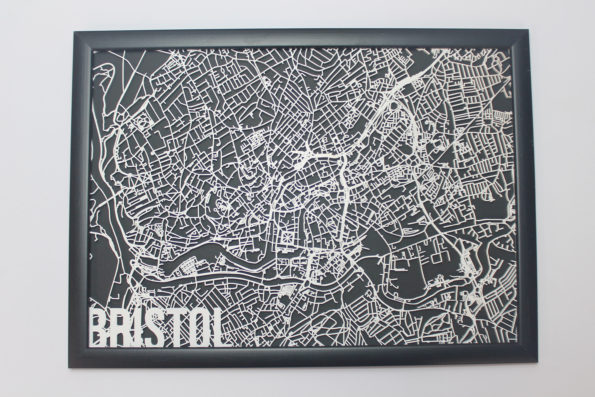 Bristol Wood Map Laser Cut Street Maps Wooden Map