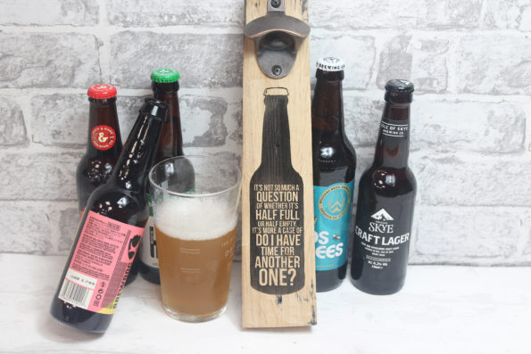 Is It Time for Another One? Bar Opener Beer Barrel Stave Bottle Opener Reclaimed from Scottish Highland Whisky Distilleries Personalised