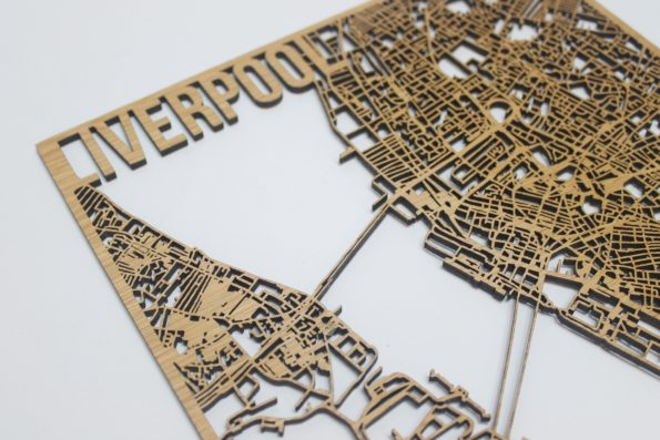 Liverpool Wood Street Map Laser Cut Street Maps Wooden Map