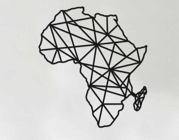 Geometric Africa Art - Wooden Country Wall Art - Africa Gift